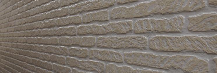 レンガ調・タイル調のサイディング壁にオススメのクリア塗装