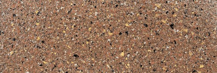 天然石を思わせる多彩色模様の塗装