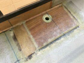 新築時の施工不良でベランダが水漏れしていたのを緊急補修→修理完了