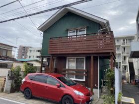 波板トタン(ガルバリウム)壁と金属瓦塗装:松戸市